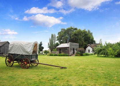 Covered Wagon at Philip Foster Farm